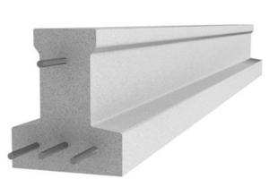 Poutrelle en béton X114 haut.11,4cm larg.9,5cm long.4,70m - Gedimat.fr