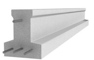 Poutrelle en béton X114 haut.11,4cm larg.9,5cm long.4,90m - Gedimat.fr