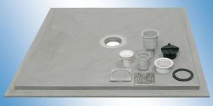 Dalle douche à l'italienne FERMACELL POWERPANEL sol TE ép.35mm dim.1,20x1,20m - Gedimat.fr