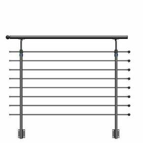Kit garde-corps métallique STEEL 30 long.1,50m pour pose en latéral - Gedimat.fr