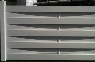 Kit clôture tressée en PVC haut.90cm long.1,80m blanc - Gedimat.fr