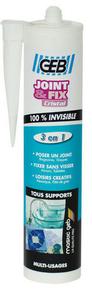 Mastic d'étanchéité et de collage joint et fix cristal transparent 280ml - Gedimat.fr