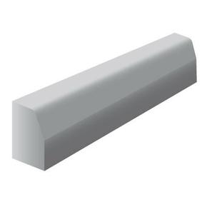 Bordure béton T1 larg.12cm haut.20cm long.1m classe U coloris gris - Gedimat.fr