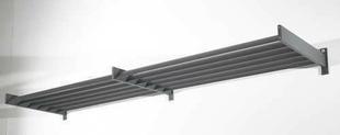 Brise soleil horizontal en aluminium thermolaqu� gris 7016 sabl� larg.1,40m prof.75cm - GEDIMAT - Mat�riaux de construction - Bricolage - D�coration