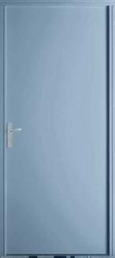 Porte secondaire acier laqu gris albea gauche poussant for Porte secondaire