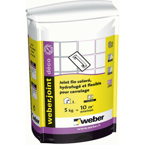 Mortier pour joints d coratifs de carrelage weber joint for Joint carrelage hydrofuge weber