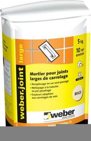 Mortier pour joints minces de carrelage weber joint fin for Lisser joint carrelage