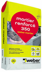Mortier WEBER MORTIER sac de 25kg - Gedimat.fr