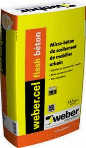 Micro-béton de scellement WEBER.CEL FLASH BETON sac de 25kg - Gedimat.fr