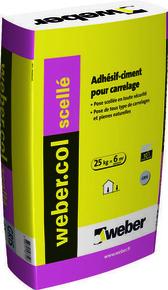 Mortier-colle WEBER.COL SCELLE sac 25kg blanc - Gedimat.fr