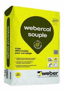 Mortier-colle déformable WEBER.COL SOUPLE sac 25kg gris - Gedimat.fr