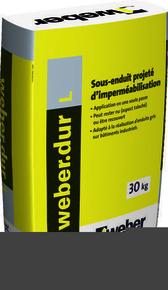 Sous-enduit d'imperméabilisation projeté WEBER.DUR L sac de 30 Kg gris ciment - Gedimat.fr