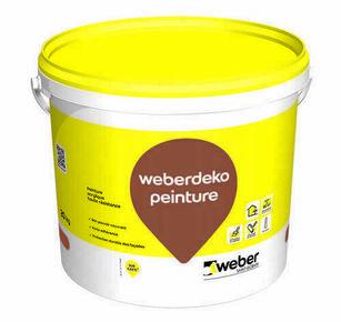Peinture Acrylique Weber Peinture Sceau De 20kg Gris Beige Teinte