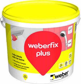 Colle carrelage WEBER.FIX PLUS blanc en pâte seau de 25kg - Gedimat.fr