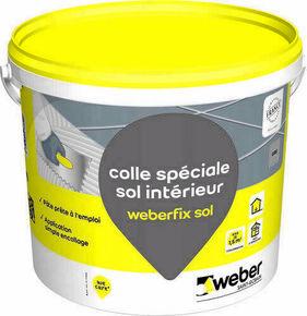 Mortier-colle WEBER.FIX SOL seau 8kg gris - Gedimat.fr