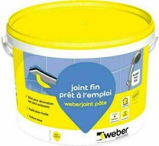 Joint WEBER.JOINT PATE seau de 5kg blanc - Gedimat.fr