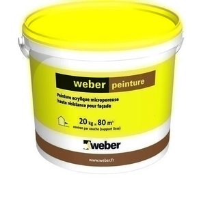 peinture acrylique weber peinture sceau de 20kg ton pierre. Black Bedroom Furniture Sets. Home Design Ideas