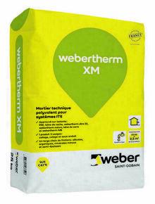 Sous-enduit pour système d'Isolation Thermique par l'Extérieur WEBER.THERM XM sac de 25kg - Gedimat.fr