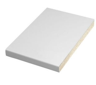 Plateau stratifié rond diam.1m ép.38mm décor blanc artic - Gedimat.fr