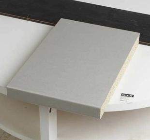 Plateau stratifé rectangulaire larg.80cm long.1,20m ép.38mm décor gris alu - Gedimat.fr