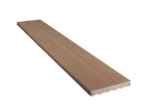 Lame de terrasse Composite FOREXIA ELEGANCE lisse lisse ép.23mm larg.180mm long.4m Brun Exotique - Gedimat.fr