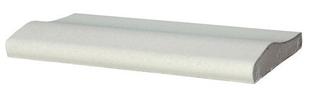 Margelle piscine droite DECO long.50cm larg.29cm coloris blanc cassé - Gedimat.fr