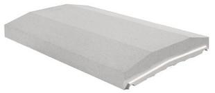 Chaperon de mur pour platine OPTIPOSE 2 pentes haut.4cm larg.33cm long.49cm coloris gris - Gedimat.fr