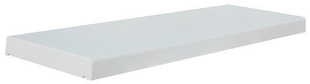 Chaperon TRADITION plat haut.5cm larg.33cm long.99cm coloris blanc - Gedimat.fr
