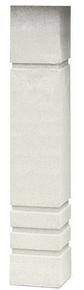 Balustre CHAILLOT OCEANE carré 11x11cm haut.66cm coloris blanc cassé - Gedimat.fr