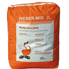 Mortier WESER MIX JL sac de 25kg ton pierre du lot - Gedimat.fr