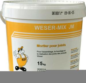 Mortier WESER MIX JM seau de 15kg ton pierre - Gedimat.fr