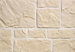 Plaquette de parement MUROK RUSTIC ép.1,5cm long.1m larg.68cm coloris blanc cassé - Gedimat.fr