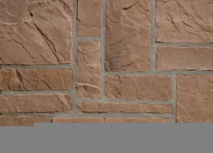 Plaquette de parement MUROK RUSTIC ép.1,5cm long.1m larg.68cm coloris brun - Gedimat.fr