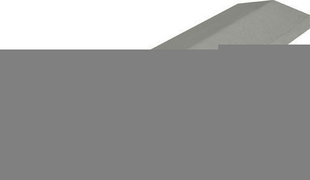 Chaperon CLASSIQUE 2 pentes haut.4cm larg.20cm long.99cm coloris gris - Gedimat.fr