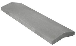 Chaperon CLASSIQUE 2 pentes haut.4cm larg.25cm long.99cm coloris gris - Gedimat.fr