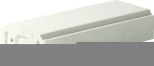 Lisse pour balustrade gamme MEDITERRANEE long.49,5cm larg.21cm ep.10cm - Gedimat.fr