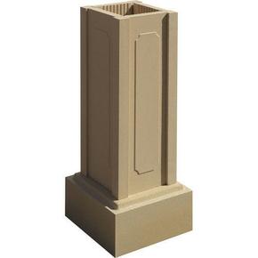 Trumeau avec embase pour balustrade haut.73cm gamme CLASSIQUE dim.32,5x32,5cm haut.88,5cm coloris ton pierre - Gedimat.fr
