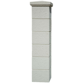 Pilier complet CHAUMONT dim.35x35cm haut.1,86m coloris blanc - Gedimat.fr