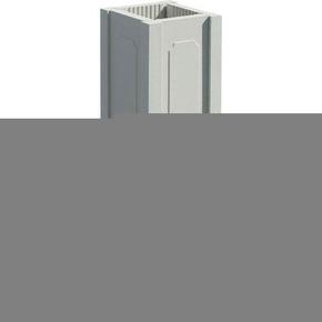 Trumeau avec embase pour balustrade haut.73cm gamme CLASSIQUE dim.32,5x32,5cm haut.74,5cm coloris blanc - Gedimat.fr