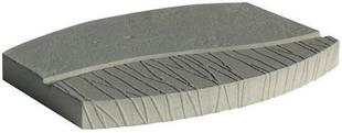 Pas japonais pierre reconstituée EDEN dim.39x30cm ép.3,2cm coloris gris - Gedimat.fr