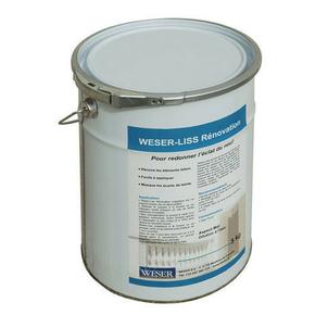 Traitement des bétons WESER-LISS RENOVATION seau de 5kg coloris gris - Gedimat.fr