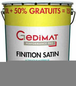 Peinture chantier GEDIMAT acrylique pot de 10L + 50% gratuit ton satin - Gedimat.fr