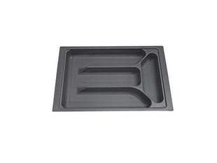 Range-couverts recoupable en ABS gris prof.47cm larg.30,8cm - Gedimat.fr
