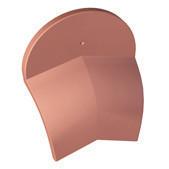 Ecusson de rive ronde pour about de faîtière/arêtier conique de 40 coloris rouge vieilli - Gedimat.fr