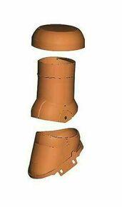 Kit ventilation active DUROVENT avec lanterne 3 parties diam.125mm coloris ardoise - Gedimat.fr