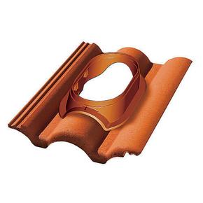 Tuile à douille DUROVENT pour tuile PLEIN CIEL diam.110 à 150mm coloris badiane - Gedimat.fr