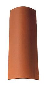 Tuile en terre cuite CANAL 40 et POSIFIX 40 coloris brun rustique - Gedimat.fr