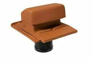 Tuile à douille SIGNY complète diam.100 à 150mm coloris rouge naturel - Gedimat.fr