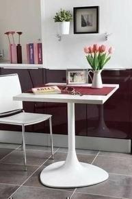 Pied de table central déco acier diam.60mm blanc - Gedimat.fr