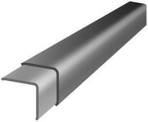 Bande de rive pour plaque ondulée COLORAGRI long.1,50m coloris noir asphalte - Gedimat.fr